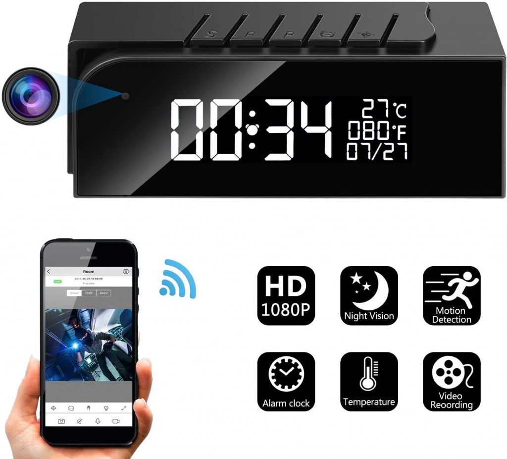 Hidden Camera 1080p HD Mini WiFi Camera spy Camera with Motion Detection Night